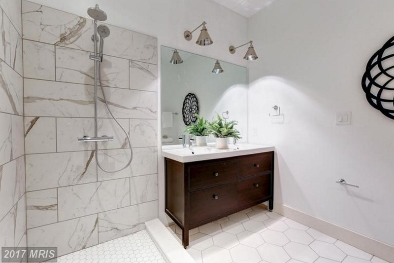 luxurious bathroom in Columbia Heights condo