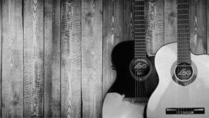 guitars on wood