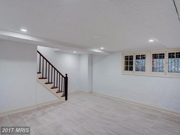spacious basement of 1618 D St NE Washington DC rental home
