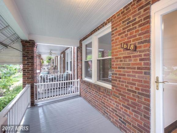 front porch of 1618 D St NE Washington DC rental home.